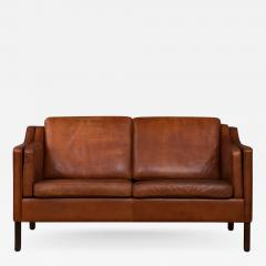 B Rge Mogensen Danish Cognac Leather Sofa In Borge Mogensen Style   734418