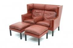 B rge Mogensen One of Two B rge Mogensen Coupe Leather Sofa 2192 Frederica Denmark 1971 - 303282