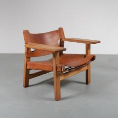 B rge Mogensen Pair of Borge Mogensen Spanish Chairs for Fredericia Denmark 1950 - 1143531