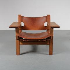 B rge Mogensen Pair of Borge Mogensen Spanish Chairs for Fredericia Denmark 1950 - 1143532