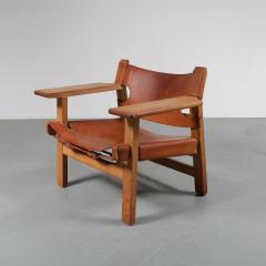 B rge Mogensen Pair of Borge Mogensen Spanish Chairs for Fredericia Denmark 1950 - 1143533