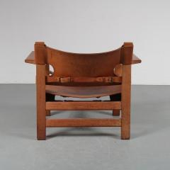 B rge Mogensen Pair of Borge Mogensen Spanish Chairs for Fredericia Denmark 1950 - 1143534