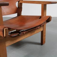 B rge Mogensen Pair of Borge Mogensen Spanish Chairs for Fredericia Denmark 1950 - 1143535
