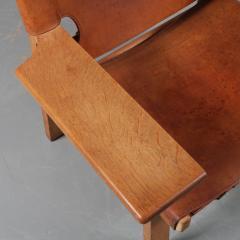 B rge Mogensen Pair of Borge Mogensen Spanish Chairs for Fredericia Denmark 1950 - 1143546