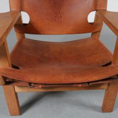 B rge Mogensen Pair of Borge Mogensen Spanish Chairs for Fredericia Denmark 1950 - 1143549