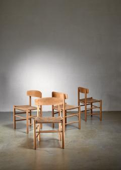 B rge Mogensen Set of 4 Borge Mogensen J39 Dining Chairs Denmark - 1126793