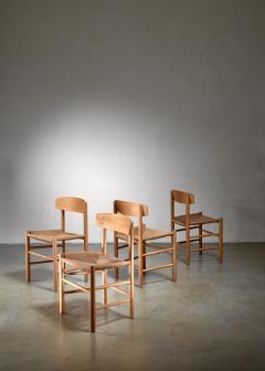 B rge Mogensen Set of 4 Borge Mogensen J39 Dining Chairs Denmark - 1126794