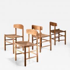 B rge Mogensen Set of 4 Borge Mogensen J39 Dining Chairs Denmark - 1128904