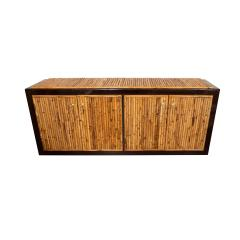 BAMBOO AND LACQUERED WOOD SIDEBOARD - 1044097
