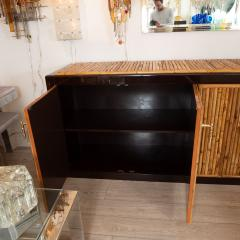 BAMBOO AND LACQUERED WOOD SIDEBOARD - 1044100