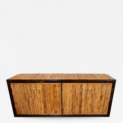 BAMBOO AND LACQUERED WOOD SIDEBOARD - 1045133