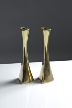 BCA Eskilstuna Pair of Swedish Candlesticks in Solid Brass by BCA Eskilstuna - 847274