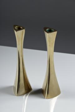 BCA Eskilstuna Pair of Swedish Candlesticks in Solid Brass by BCA Eskilstuna - 847276