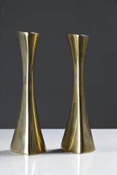 BCA Eskilstuna Pair of Swedish Candlesticks in Solid Brass by BCA Eskilstuna - 847277