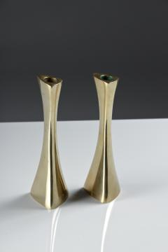 BCA Eskilstuna Pair of Swedish Candlesticks in Solid Brass by BCA Eskilstuna - 847278