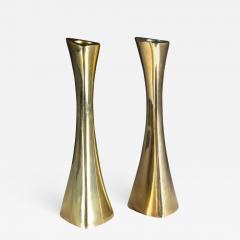 BCA Eskilstuna Pair of Swedish Candlesticks in Solid Brass by BCA Eskilstuna - 850139