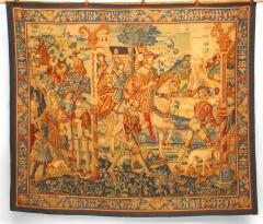 BELGIAN STYLE WOVEN TAPESTRY WITH ROYAL SCENE - 1305095