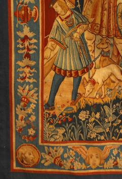 BELGIAN STYLE WOVEN TAPESTRY WITH ROYAL SCENE - 1305096