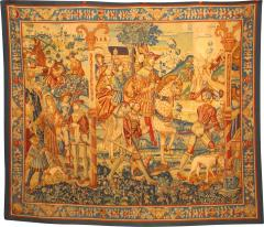 BELGIAN STYLE WOVEN TAPESTRY WITH ROYAL SCENE - 1308982