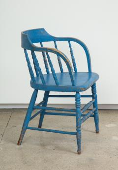 BLUE PAINTED WINDSOR CHAIRS - 1559687