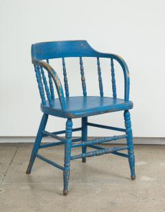 BLUE PAINTED WINDSOR CHAIRS - 1559689