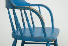 BLUE PAINTED WINDSOR CHAIRS - 1559690