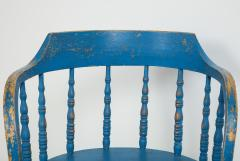 BLUE PAINTED WINDSOR CHAIRS - 1559691