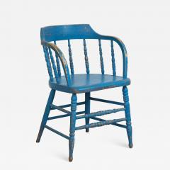 BLUE PAINTED WINDSOR CHAIRS - 1561410