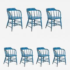 BLUE PAINTED WINDSOR CHAIRS - 1561411
