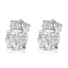 BRAND NEW 4 Prong Basket Diamond Stud Earrings in 14K White Gold 1 42 CTW  - 1653811