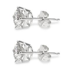 BRAND NEW 4 Prong Basket Diamond Stud Earrings in 14K White Gold 1 42 CTW  - 1653828