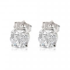 BRAND NEW 4 Prong Basket Diamond Stud Earrings in 14K White Gold 1 42 CTW  - 1656011