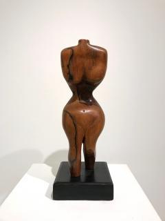 BRAZILIAN WALNUT TORSO SCULPTURE - 1903885