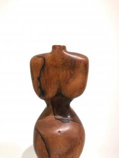 BRAZILIAN WALNUT TORSO SCULPTURE - 1903887