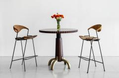BURLED INLAID BAR TABLES - 1021139