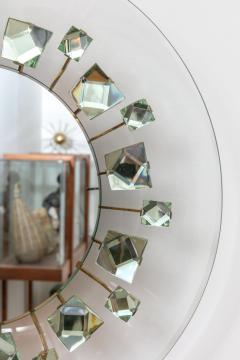 Backlit Chisel Cut Glass Mirror in the Style of Mid Century Modern - 1086812