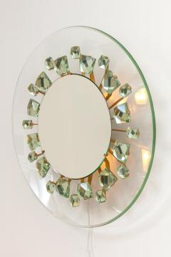 Backlit Chisel Cut Glass Mirror in the Style of Mid Century Modern - 1086813