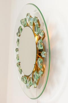 Backlit Chisel Cut Glass Mirror in the Style of Mid Century Modern - 1086814