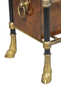 Bagu s Style Brass and Lacquer Table - 1568140