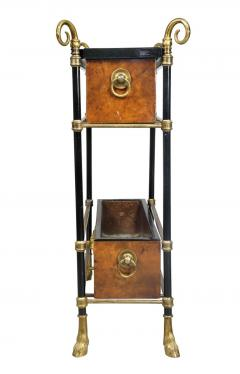 Bagu s Style Brass and Lacquer Table - 1568144