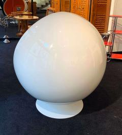 Ball Chair by Adelta Eero Aarino Orange and White Space Age Made in Finland - 1316601