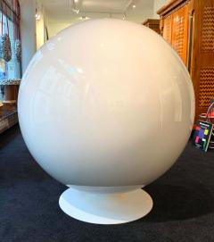 Ball Chair by Adelta Eero Aarino Orange and White Space Age Made in Finland - 1316604