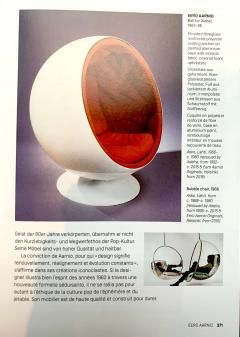 Ball Chair by Adelta Eero Aarino Orange and White Space Age Made in Finland - 1316611
