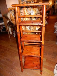 Bamboo West Indian Artisan Stand Ladder - 1329196