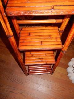 Bamboo West Indian Artisan Stand Ladder - 1329198