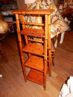 Bamboo West Indian Artisan Stand Ladder - 1329199