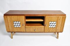 Bamboo and Rattan French Riviera Style Side Board - 888366