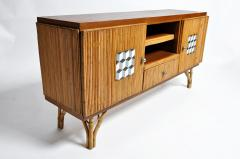 Bamboo and Rattan French Riviera Style Side Board - 888371