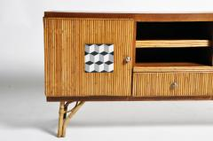 Bamboo and Rattan French Riviera Style Side Board - 888373