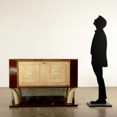 Bar Cabinet Rosewood Parchment Mirror Italy 1940s - 2145083